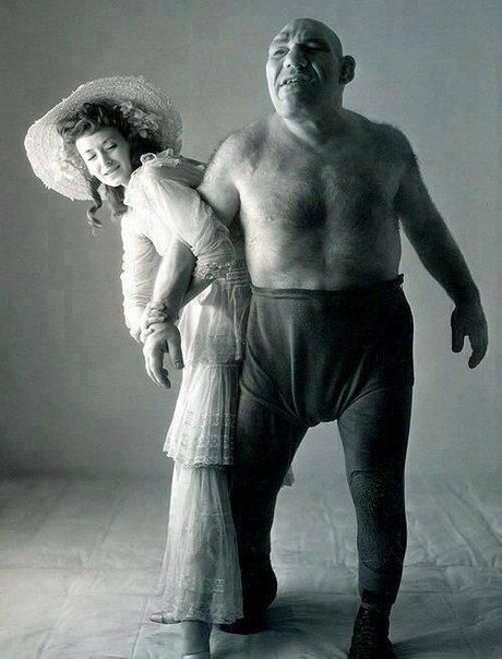 french wrestler and lady