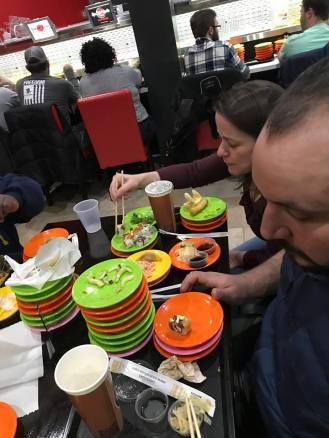 jen and g at sushi